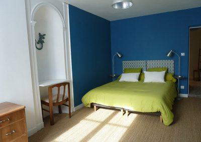 Chambre bleue avec 1 lit de 160x200